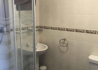 Bathroom of apartment 4 with shower and handbasin